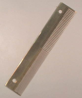 """Wammen - Doppelkamm """" Messing """" 11,5 cm >Deutsches Produkt<"""